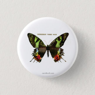 Moth: Madagascan Sunset Moth 3 Cm Round Badge