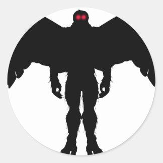 Moth Man Round Stickers