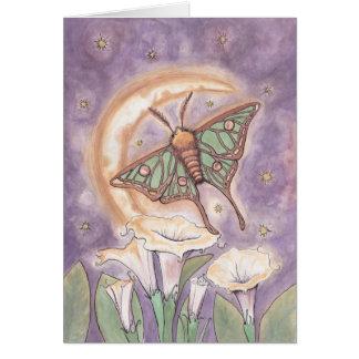 Moth & Moonflowers Card