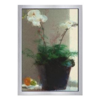 Moth Orchid in Window 13 Cm X 18 Cm Invitation Card