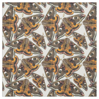 Moth pattern fabric