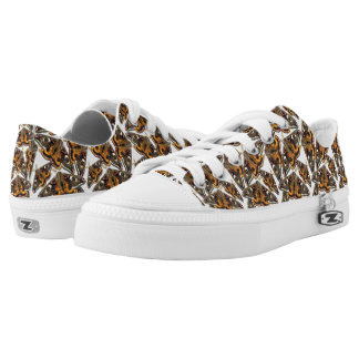 Moth pattern printed shoes