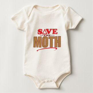Moth Save Baby Bodysuit