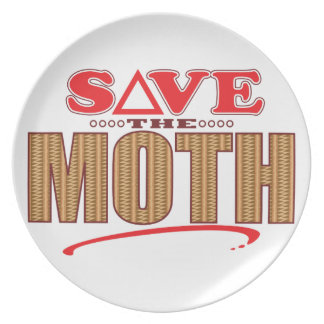 Moth Save Party Plate