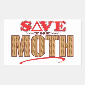 Moth Save Rectangular Sticker