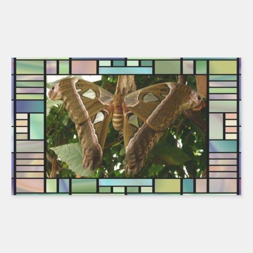 Moth Rectangular Stickers