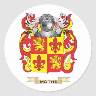 Mothe Coat of Arms (Family Crest) Round Sticker