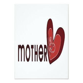 Mother 13 Cm X 18 Cm Invitation Card