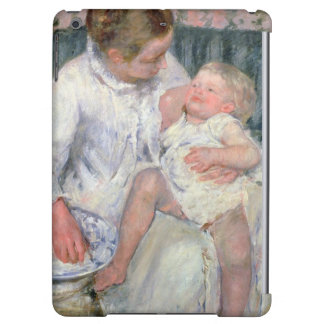 Mother about to Wash her Sleepy Child, 1880 (oil o