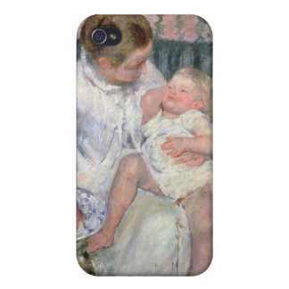 Mother about to Wash her Sleepy Child, 1880 (oil o Cases For iPhone 4