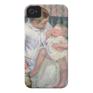Mother about to Wash her Sleepy Child, 1880 (oil o iPhone 4 Case