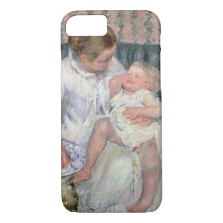 Mother about to Wash her Sleepy Child, 1880 (oil o iPhone 8/7 Case