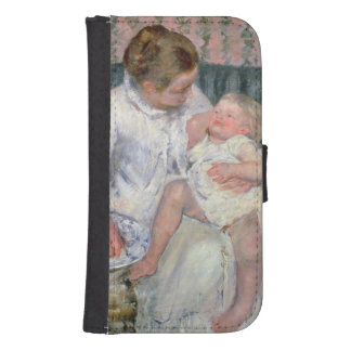 Mother about to Wash her Sleepy Child, 1880 (oil o Samsung S4 Wallet Case