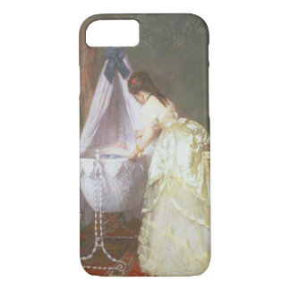 Mother and Baby, 1869 (oil on panel) iPhone 8/7 Case