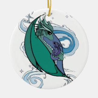 mother and baby dragon christmas ornament