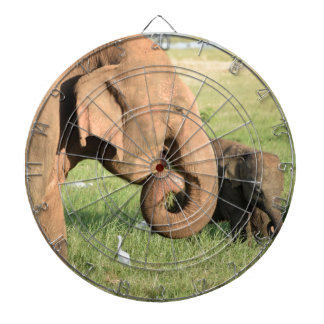 Mother and baby elephant dartboard