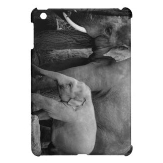 mother and baby elephant iPad mini cover