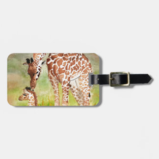 Mother and Baby Giraffes Luggage Tag