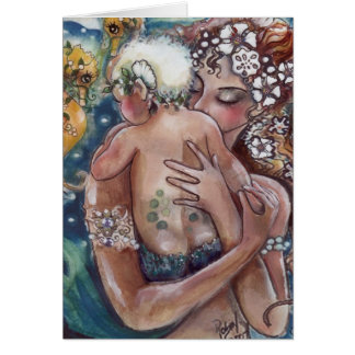 Mother and Baby in the Sea card