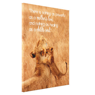 Mother and Baby Lion Gallery Wrap Canvas