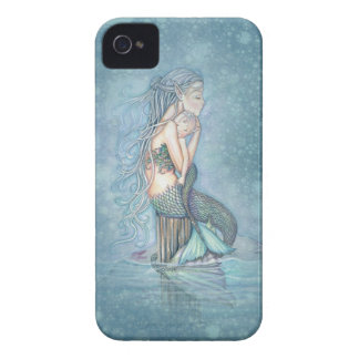 Mother and Baby Mermaid Fantasy Art iPhone Case iPhone 4 Cases