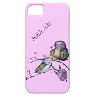 Mother and baby owl iPhone 5 cover