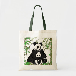 Mother and Baby Panda/Mamá y Bebé Panda Tote Bag