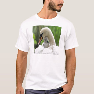 Mother And Baby Swan T-Shirt