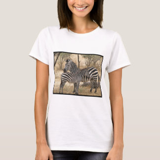 Mother and Baby Zebra  Ladies Fitted T-Shirt