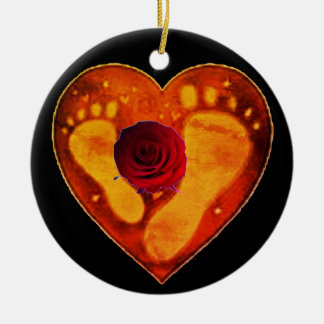 Mother and Baby's Footprints Christmas Ornament