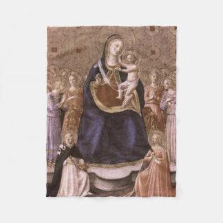 Mother and Bambino Antique Colors Religious Fleece Blanket