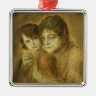 Mother and Child, 1893 Christmas Ornament