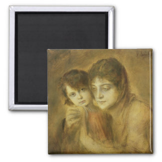 Mother and Child, 1893 Square Magnet
