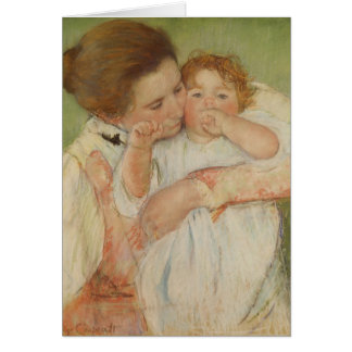 Mother and Child, 1897 Greeting Card