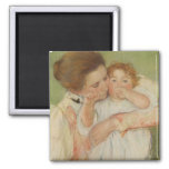 Mother and Child, 1897 Square Magnet