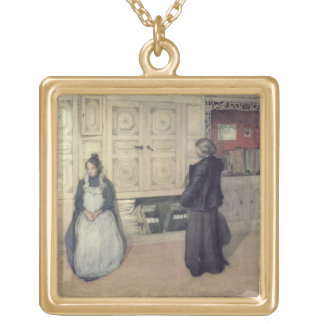 Mother and Child, 1903 Gold Plated Necklace