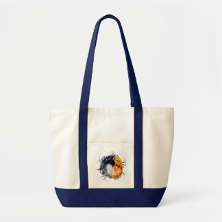 Mother and child artistic design impulse tote bag