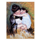 Mother and Child  - Artwork by Mary Cassatt, 1900 Postcard
