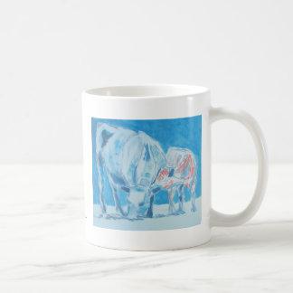 Mother and child basic white mug