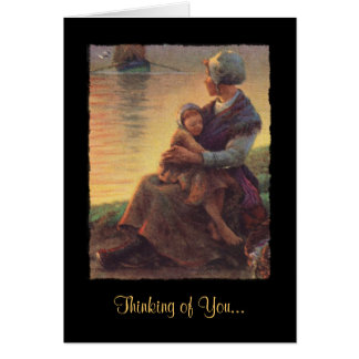Mother and Child Beside Water Card