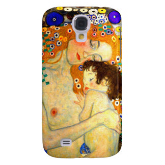 Mother and Child by Gustav Klimt Art Nouveau Galaxy S4 Case