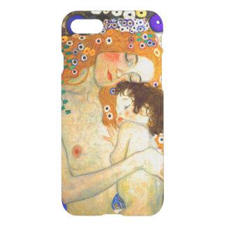 Mother and Child by Gustav Klimt Art Nouveau iPhone 8/7 Case