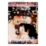 Mother and Child by Gustav Klimt Collage Greeting Card