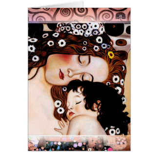 Mother and Child by Gustav Klimt Collage Card