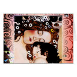 Mother and Child by Gustav Klimt Collage Cards