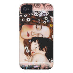 Mother and Child by Gustav Klimt Collage Case-Mate iPhone 4 Case