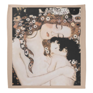 Mother and Child by Gustav Klimt Kerchief