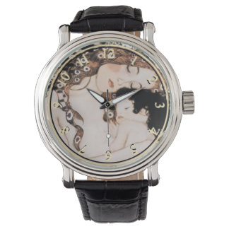 Mother and Child by Gustav Klimt Wrist Watches