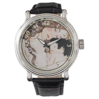 Mother and Child by Gustav Klimt Wrist Watches