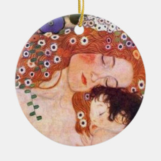 Mother and Child by Klimt Christmas Ornament